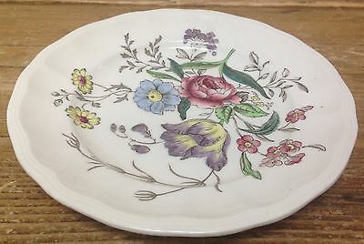 """Gainsborough Spode Great Britain Floral S245 Brown 1 Bread Butter Plate 6 3/4"""""""