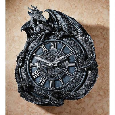 Celtic Knot Dragon Roman Numeral Quartz Movement Wall Clock Sculpture
