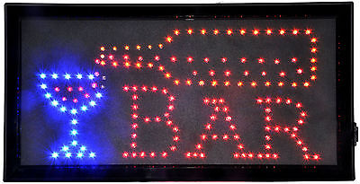 New Hot LED Neon Open Sign Animated Lighted Bar Business Sign or Home Bar Sign