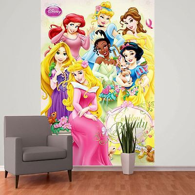 DISNEY PRINCESS WALLPAPER WALL MURAL 232cm x 158cm NEW