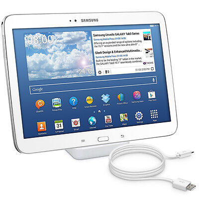 kwmobile Docking Station für Samsung Galaxy Tab 3 10.1 Ladestation Dock Weiß