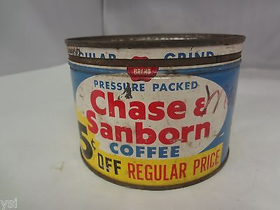 VINTAGE CHAS & SANBORN COFFEE TIN ADVERTISING  COLLECTIBLE GRAPHICS  G-296