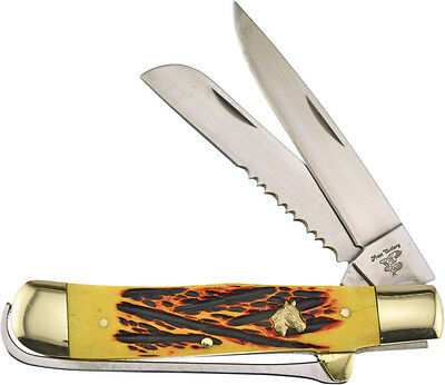 """FROST 4 1/4"""" CLOSED """"FARRIER'S"""" 2 BLADE KNIFE with HOOF PICK - F18295RPB"""