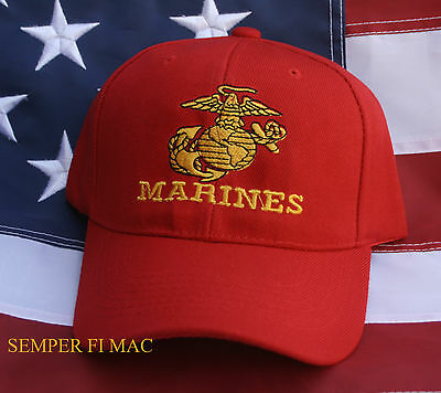 Us Marines Ega Seal Logo Hat Cap Veteran Vet Pin Up Wowmh Mar Div Maw Gift Wow
