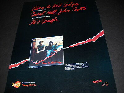 HALL & OATES ...forerunners of innovation and imagination.. 1978 PROMO POSTER AD