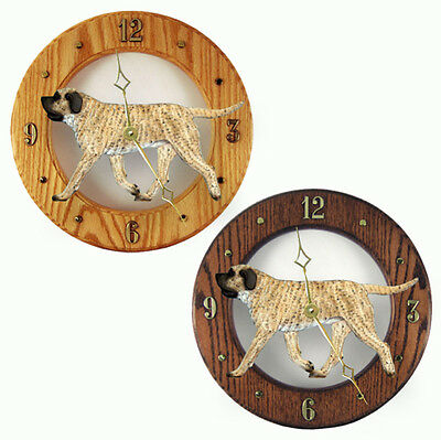 Mastiff Wood Wall Clock Plaque Fawn Brindle
