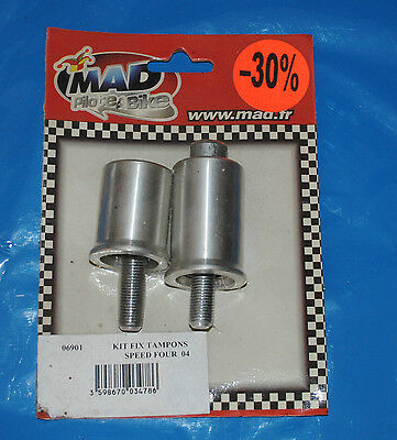 kit de fixation de tampons pare-carter Mad pour Triumph Speed Four 2004/2006