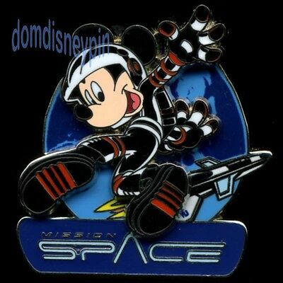 Disney Pin WDW *Mission Space* Logo w/ Astronaut Mickey, Earth & Shuttle (3D)!