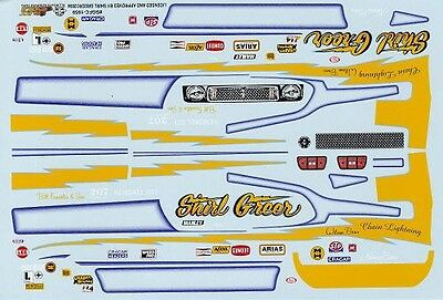 Shirl Greer MUSTANG FUNNY CAR NHRA DRAG 1/25TH - 1/24TH WATERSLIDE DECAL