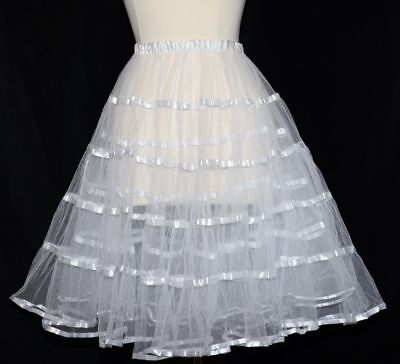 LONG PETTICOAT Half SLIP German Oktoberfest Dirndl Dress Swing Skirt M L XL 2XL