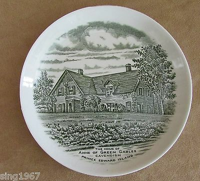 """Anne of Green Gables 5"""" PEI Canada white Burleigh china plate FDR"""
