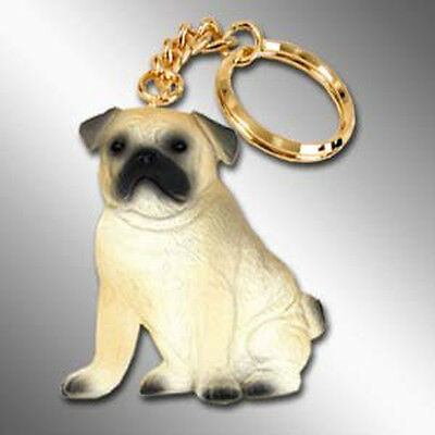PUG Fawn Brown Dog Best Friends Unbreakable Keychain Key Chain