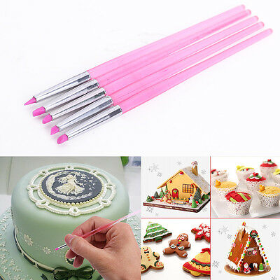 5 Cake Decorating Silicone Icing Brush Pen Tools for Sugarcraft New Design