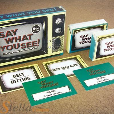 Say What You See Game Family Dinner Party Card TV Catchphrase Quiz