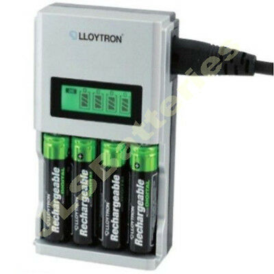 RAPIDE 1 Heure LCD chargeur de pile pour AA AAA Ni-Mh Ni-Cd
