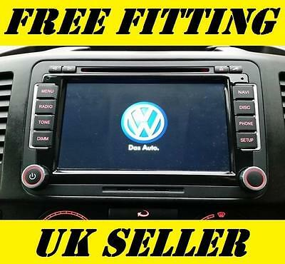 Volkswagen Radio SAT NAV DVD Player Bluetooth Handsfree Car Stereo Golf T5 GPS