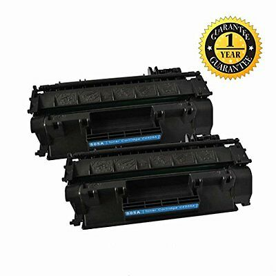 2 Pack GlobalToner Compatible HP CE505A/HP 05A Toner Cartridge for use with HP L