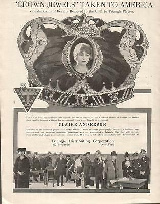 Claire Anderson Lillian Langdon 1918 Ad- Crown Jewels/Triangle Distributing
