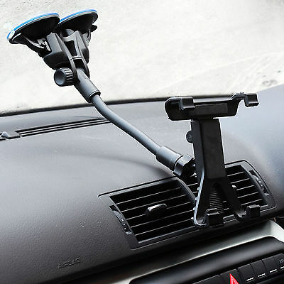Dual Suction Car Windscreen Mount +  Holder for Apple iPad Air 2 / Pro 9.7""