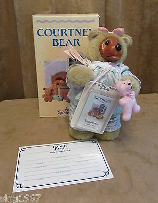 Courtney Robert Raikes wooden face collectible bear box cassette mib 3530/10000