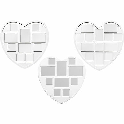 Love Heart Multi Collage Large White Plastic Aperture Wall Picture Photo Frames