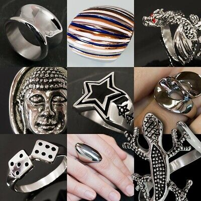 LADY'S RINGS STAINLESS STEEL fashion accessory silver DESIGN RING noble classic