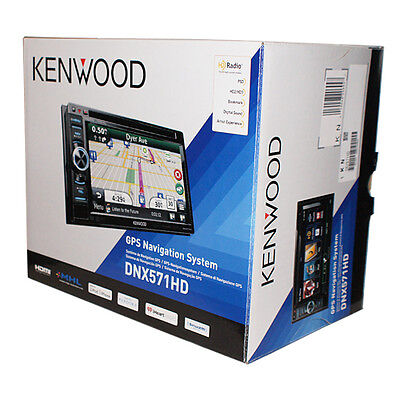 """Kenwood DNX571HD In Dash 6"""" Car Video Monitor DVD Player GPS Navigation System"""