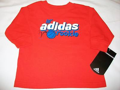 new boys size 12 months ADIDAS Basketball LiL Rookie Long Sleeve shirt orange