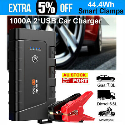 Suaoki 12V Portable Car Jump Starter Vehicle Emergency Booster Battery Charger
