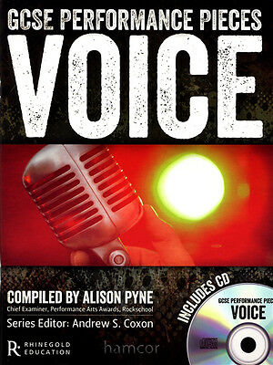 GCSE Performance Pieces Voice Vocal Singing Pop Exam Sheet Music Book/CD