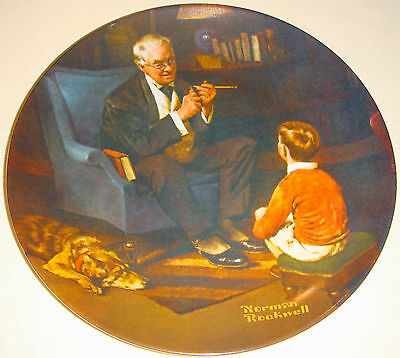 NORMAN ROCKWELL Americas Heritage Collection Grandpa & Grandson THE TYCOON Plate