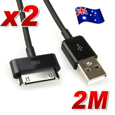 "2x 2M USB Data Charger Cable For Samsung Galaxy Tab 2 Note Tablet 7"" 10.1"""