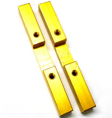 L11082 1/10 1/8 Scale Alloy Support Block Bridge x 2 M3 3mm Threaded Yellow 72mm