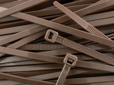 Brown Plastic Cable Ties / Wire Ties - All Sizes - High Quality Heavy Duty Ties
