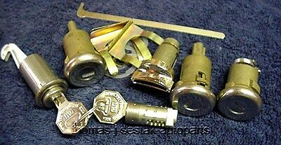 New Door Ignition Trunk Glove & Console Locks With Keys Chevy Impala  1964