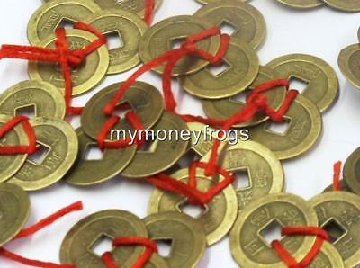 3 Ribbon Tied (1x set) Chinese Lucky Wealth Money Good Fortune Coin Amulet Charm