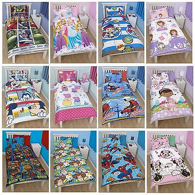 Disney and Character Single Duvet Cover Sets - Kids Childrens Bedding