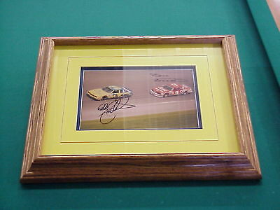 Dale Earnhardt  & Bill Elliot Pass in the Grass signed