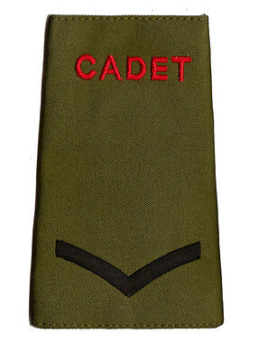 Pair of  ACF / CCF Lance Corporal L/CPL RANK SLIDES for MTP ( Army Cadet Force