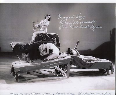 Margaret Kerry Signed Peter Pan Red Haired Mermaid from Neverland  10x8 Photo