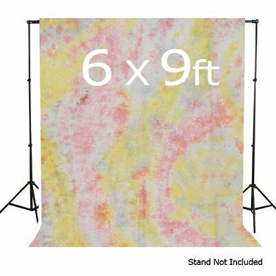 LimoStudio 100% Cotton Hand Painted Hand Dyed 6 x 9 Tie Dye Muslin Photo Backdro