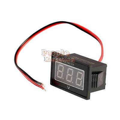 Mini Waterproof DC 2.5 to 30V Red LED Panel Meter DC Digital Voltmeter Two-wire