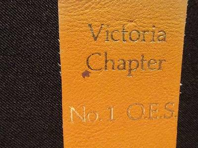 Order Eastern Star #1 Victoria Chapter 75th Anniversary 1908-83 Windsor bookmark