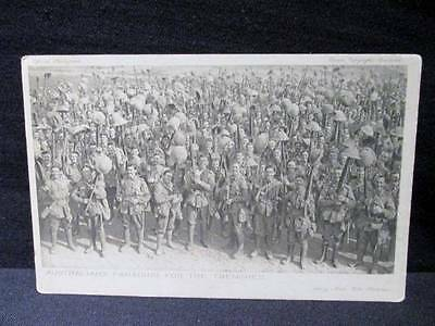 Australians Parading for the Trenches  #40 Series 5 Daily Mail Postcard WWI