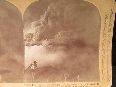 Pelee Aug 30 1902 Ominous Prelude to Tragedy  Antique B&W Keystone Stereoview