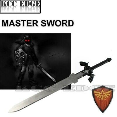 1:1 LARGE BLACK Link's Master Sword from the Legend of Zelda w/ Plaque XMAS GIFT