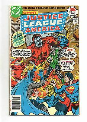 Justice League of America Vol 1 No 140 Mar 1977 (VFN) Dbl Size, Manhunter apprs