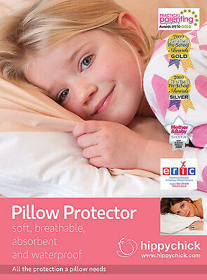 Hippychick JERSEY PILLOW PROTECTOR 75X50CM WHITE Child Bedding Accessory BN