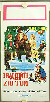 2so24 SONG OF THE SOUTH WALT DISNEY rare POSTER ITALY