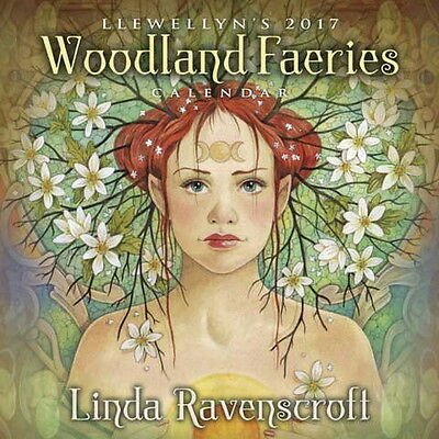 2017 WOODLAND FAERIES WALL CALENDAR Wicca Witch Pagan Goth LINDA RAVENSCROFT